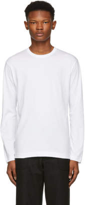 Comme des Garcons White Basic Logo Long Sleeve T-Shirt
