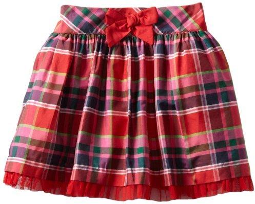 Hartstrings 2-6X Little Blend Plaid Skirt With Tulle