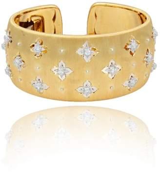 Buccellati Macri 18K Yellow & White Gold Diamond Cuff Bracelet