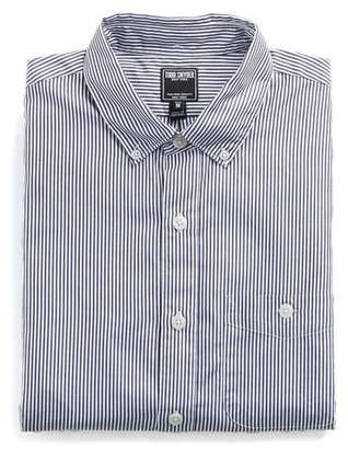 Todd Snyder Slim Fit Button Down Collar Shirt in Navy Stripe