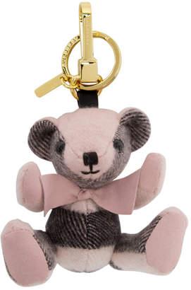 Burberry Pink Thomas Check Keychain