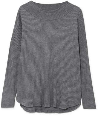 Eberjey Ula Waffle-knit Modal-blend Top - Gray