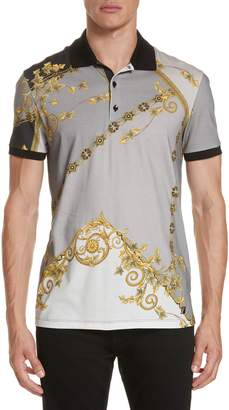 Versace Print Jersey Polo