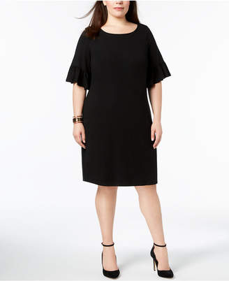 Charter Club Plus Size Ruffle-Sleeve Shift Dress, Created for Macy's