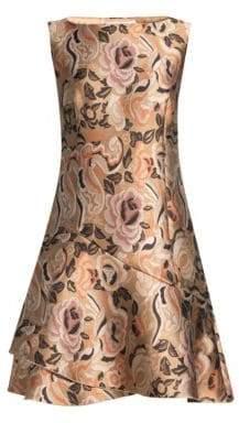 Etro Floral Jacquard Cocktail Dress