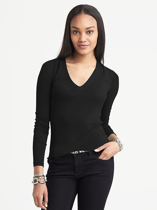 Banana Republic Piped Long-Sleeve Top