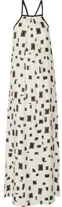 Derek Lam 10 Crosby Printed Burnout Silk And Cotton-Blend Maxi Dress