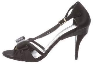 Fendi Satin Bow Sandals