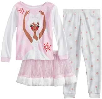 Disney Disney's The Nutcracker and the Four Realms Toddler Girl Sugar Plum Fairy Top, Bottoms & Tutu Pajama Set