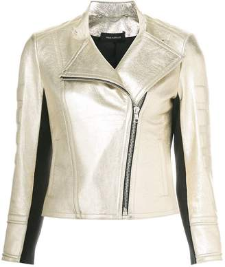 Yigal Azrouel Foiled Metallic Moto jacket