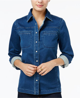 Tommy Hilfiger Denim Shirt Jacket, Only at Macy's $89.50 thestylecure.com