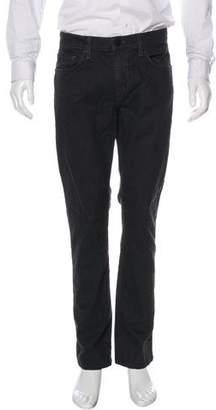 J Brand Brushed Straight-Leg Jeans