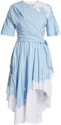 Jonathan Simkhai Striped cotton and silk-blend dress