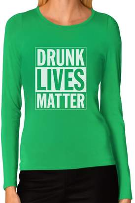 DAY Birger et Mikkelsen TeeStars - Drunk Lives Matter - St. Patrick's Women Long Sleeve T-Shirt