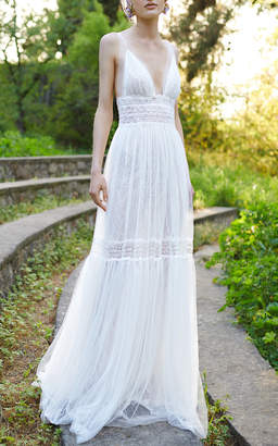 Costarellos Bridal V-Neck Fit & Flare Gown