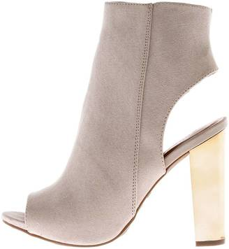 Bamboo Gold Heel Open Bootie $29.99 thestylecure.com