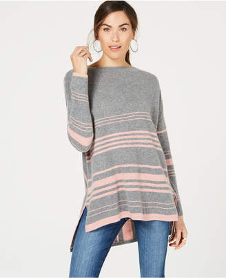 Charter Club Striped Pure Cashmere Sweater