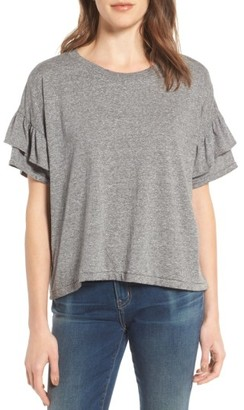 Women's Current/elliott The Roadie Ruffle Tee $118 thestylecure.com