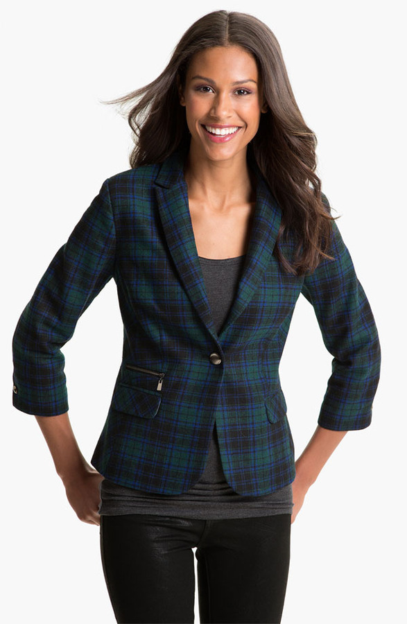 Olivia Moon Plaid Blazer