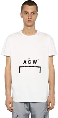A-Cold-Wall* Logo Printed Cotton Jersey T-Shirt