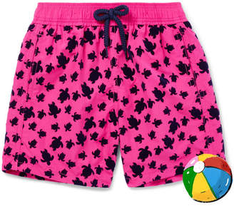 Vilebrequin Boys Ages 2 - 8 Jim Flocked Shell Swim Shorts - Pink