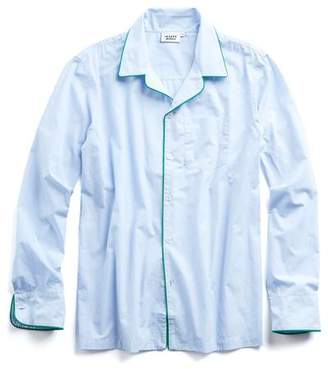Sleepy Jones Henry Pajama Shirt in Blue