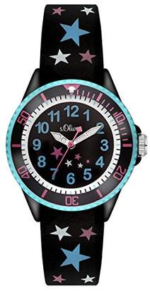 S'Oliver Girls' Analogue Quartz Watch with Silicone Strap – SO-3178-PQ