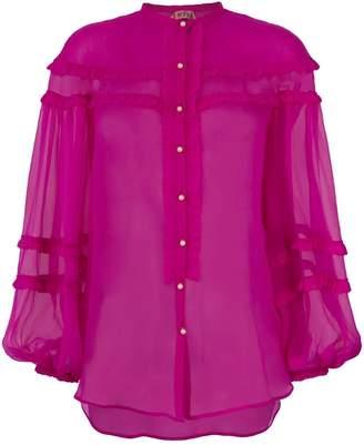 No.21 sheer frill blouse