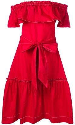 P.A.R.O.S.H. ruffle bardot dress