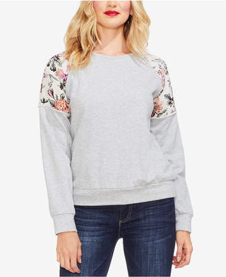 Vince Camuto Drop-Shoulder Floral Sweater
