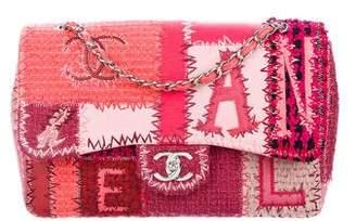 Chanel 2016 Patchwork Classic Jumbo Single Flap Bag
