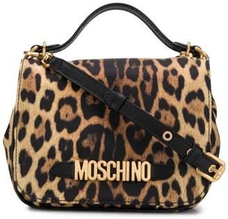 Moschino leopard print cross body bag