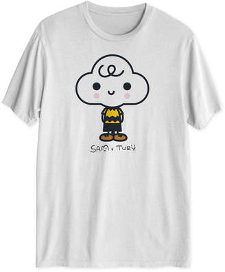 Peanuts Collection- Men Charlie Big Head Graphic T-Shirt