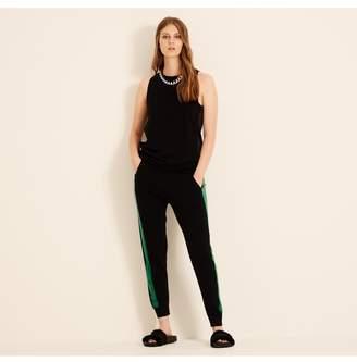 Amanda Wakeley Black Emerald Aldridge Cashmere Joggers
