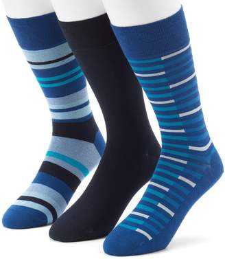 Marc Anthony Men's 3-pack UltraFresh Solid & Striped Dress Socks