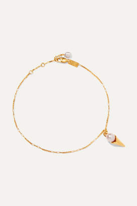 Pernille Lauridsen - Gold-plated Pearl Anklet