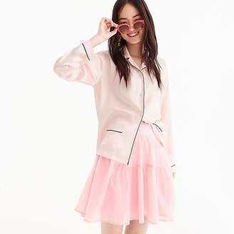 J.Crew Tiered cotton voile mini skirt