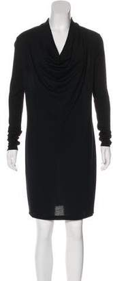 Helmut Lang Long Sleeve Wool Dress
