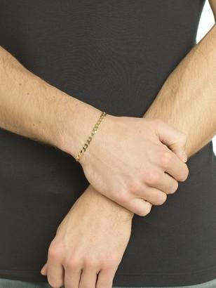 Love Gold Love GOLD 9 Carat Yellow Gold Solid Diamond Cut 8 inch Curb Bracelet