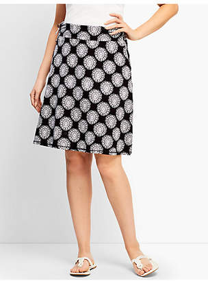 Talbots Flower Tile Side-Tie Skirt