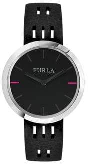Furla Capriccio Stainless Steel Leather-Strap Watch