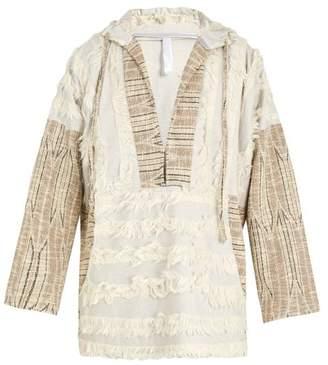 Cottweiler Faux Shearling Trimmed Hooded Cotton Blend Jacket - Mens - Multi
