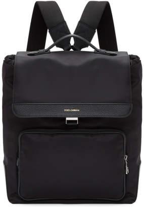 Dolce and Gabbana Black Nylon Backpack