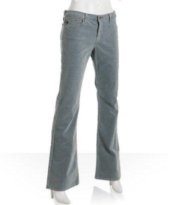 AG Jeans grey stretch 'Angel' bootcut corduroys