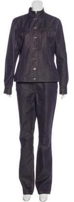 Hermes Silk-Blend Denim Pantsuit