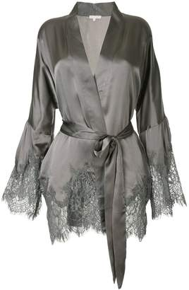 Gold Hawk scalloped lace jacket