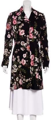 Giambattista Valli Floral Print Knee-Length Coat w/ Tags