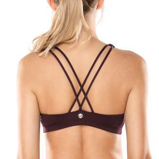 CRZ YOGA Women's Light Support Cross Back Wirefree Yoga Bralette Sports Bra XS