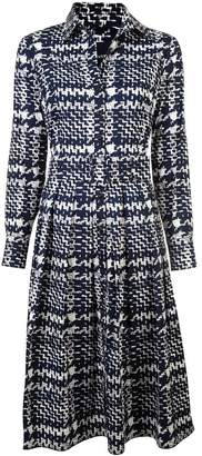 Samantha Sung plaid long-sleeve midi dress