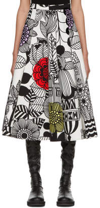 Junya Watanabe Multicolor Panelled Circle Print Skirt